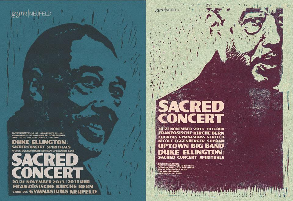 Plakatgestaltung für das Chorkonzert, gymneufeld